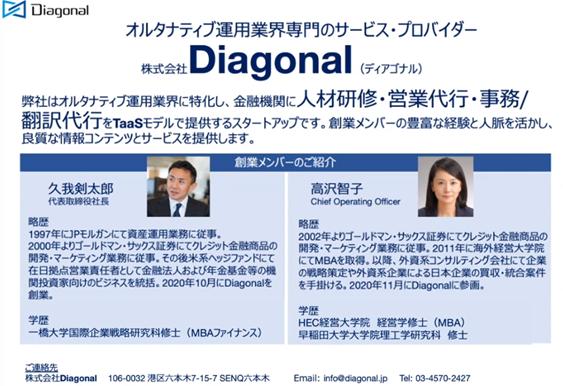 株式会社Diagonal 創業メンバー