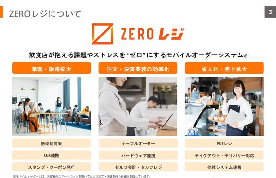 XERO株式会社 ZEROレジについて