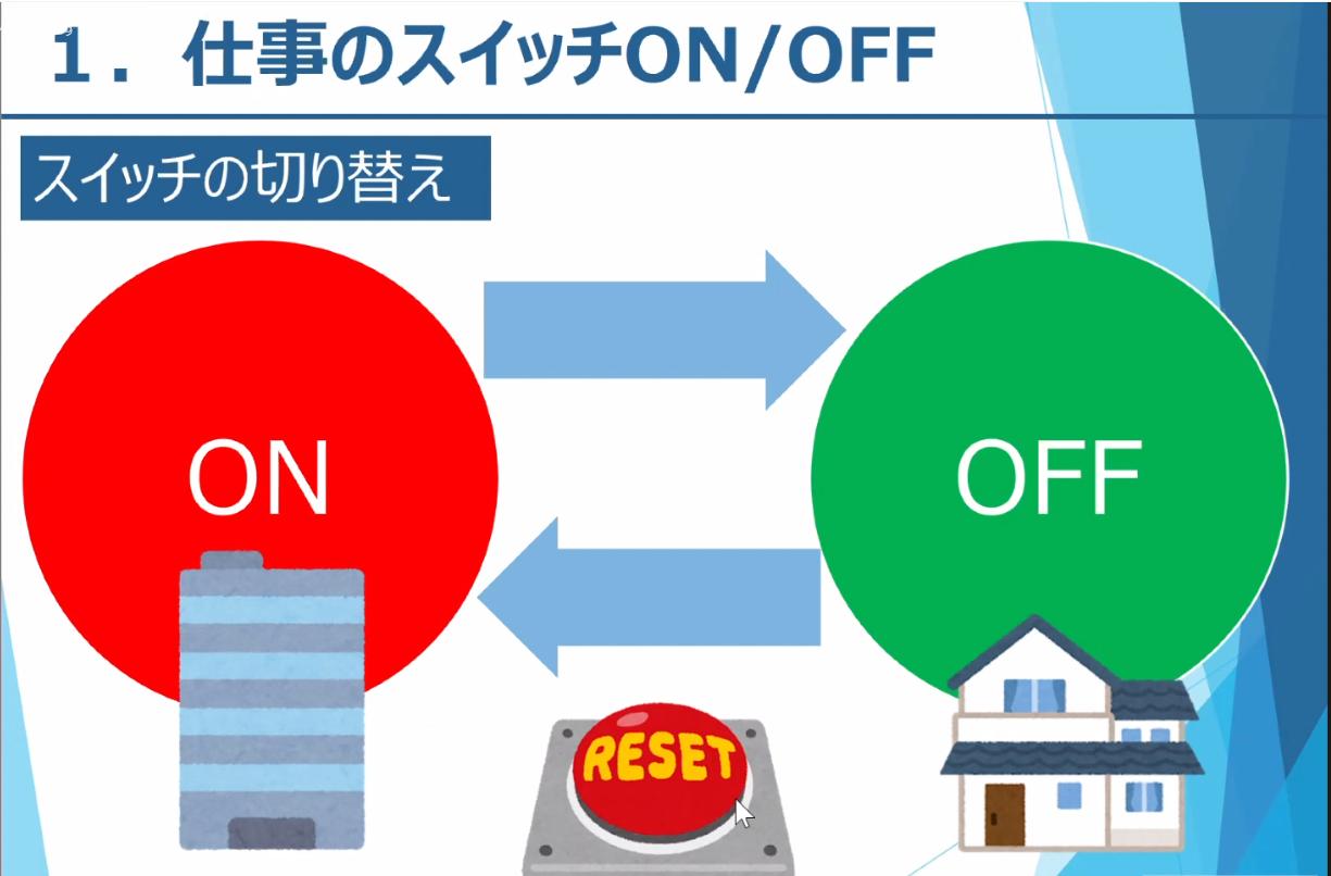 仕事のスイッチON/OFF