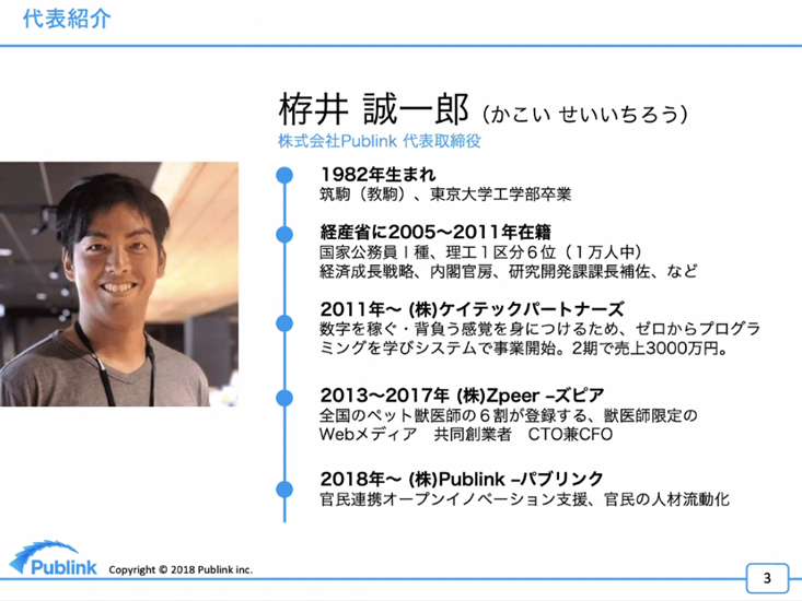 栫井氏のプロフィール